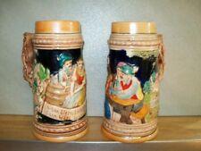 Vintage German ceramic beer steins  Made in Japan