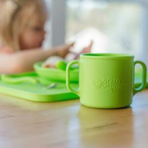 Learning Cup Silicone, 12 months+ GREEN SPROUTS, Pink / Aqua / Green