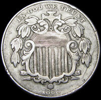 1869 Shield Nickel ---- TYPE COIN ---- #C763