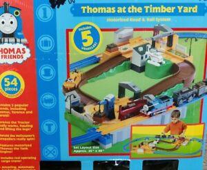 Thomas At The Timber Yard Tomy Train Set Great Shape