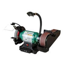 220V Electric Belt Sander Grinding Machine DIY Polisher 2850RPM w/  Working Lamp