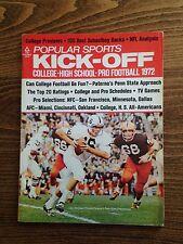 1972 Kick-Off Football Yearbook John Hufnagel