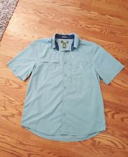 Mens GANDER MOUNTAIN Fishing Sun Protection Button up Shirt SIZE MEDIUM!