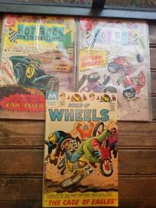 HOT RODS Cartoon Comic Book #105 #106 & World of Wheels Lot of 3
