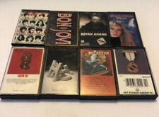 Audio Cassette Tape Lot of 8 1980's Classic Rock & Pop Music - FREE SHIPPING!