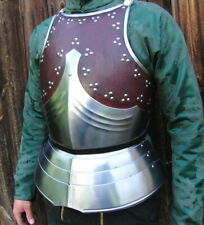 18GA Medieval Armor Cuirass/ Breastplate Leather-covered gothic chest plate