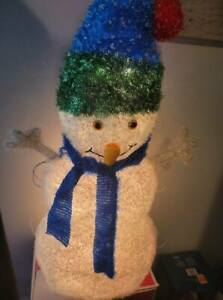 "Christmas Light Snowman LED Tinsel Decorative Indoor Outdoor Crystal 30"" Target"