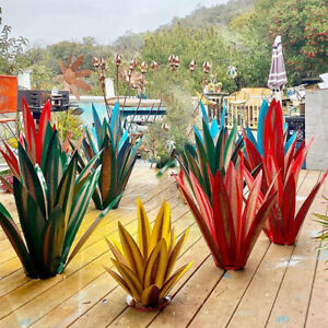 DIY Metal Art Tequila Rustic Sculpture 9 leaves Garden Yard Sculpture Home Decor