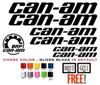 (#114)  7 X CAN-AM TEAM outlander maverick LOGO BRP STICKER DECAL EMBLEM (KIT)