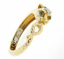 Vintage David Webb Panther Bangle 18KT Yellow Gold RARE