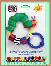 THE VERY HUNGRY CATERPILLAR ATTACHABLE RING RATTLE ACTIVITY TOY TEETHER 0+