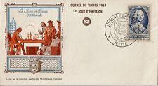 LETTRE PREMIER JOUR 1953 - LE COMTE D'ARGENSON LA POSTE DE FRANCE AU 18e SIECLE