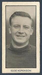 D C THOMSON-WORLD CUP FOOTBALLERS-1958-#01-BOLTON & ENGLAND-EDDIE HOPKINSON