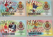 LESOTHO 1989 819-22 750-753 Soccer Football World Cup 1990 Italy Fußball WM MNH