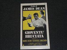 "LOCANDINA ADESIVA 7,00X12,50 GIOVENTU' BRUCIATA JAMES DEAN - OTTIMO ""N"""