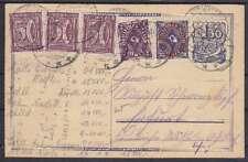 DR P 148 Ganzsache ZuF 183, 207, 224, Katzhütte - ERfurt 1923, GA Infla