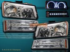 03-06 CHEVY SILVERADO 1500/2500/3500 & AVALANCHE LED HEADLIGHTS + BUMPER LIGHTS