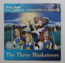 THE THREE MUSKETEERS CHILDREN'S ANIMATED CLASSICS DAILY MAIL DVD PROMO GC