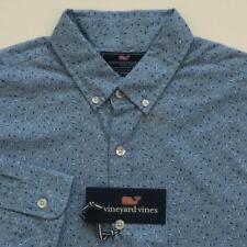 NWT Vineyard Vines Murray LS Shirt Micro Sail Dot Jake Blue Slim Fit Medium $98