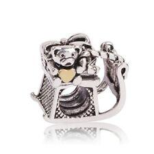 NEW Christmas Teddy Santa Sleigh Silver Charm Necklace Bracelet Pendant Jewelry