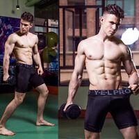 Men's Workout Compression Shorts Running Gym Training Boxer Underwear Quick-dry