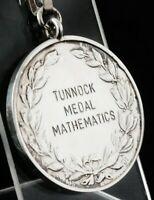 Silver Mathematics Medal, Pocket Watch Fob, W H Darby & Sons Ltd 1992