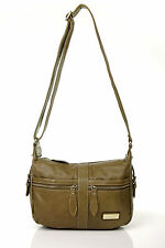 Fashion Louis Genuin Leather Khaki Women Cross Body Bags Ladies Satchel handbags