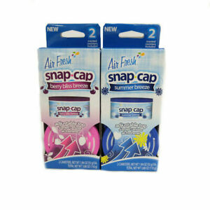 Air Fresh snap cap Adjustable Top Scented Cannister Air Freshener 2 Pack 3.88 oz