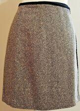 Ann Taylor D611 Black Velvet Cotton Blend Skirt $89.00