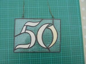 Handmade Stained Glass House Number