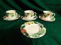 RL F2-  Studio Nova Mikasa Orchard Jewels Cup & Saucer Sets Lot of 3
