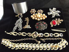 Lot of Vintage & Modern Broken Jewelry for parts or craft projects Rhinestones