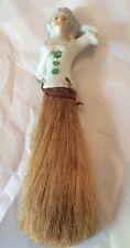 Antique Porcelain Half Doll Elegant lady Whisk Broom *