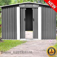 Garden Tool Storage Shed Galvanised Steel Double Sliding Door 2.57m x 2m