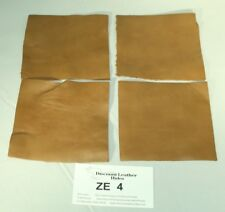 """""""Flank Sand"""" Tan Craft Leather Piece 4.5"""" by 4.5"""" ZE4-4545 4-pack FREE SHIPPING!"""