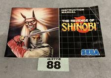 Sega Mega Drive The Revenge Of Shinobi Instruction Manual