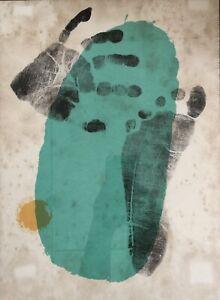 Miro Abstract Print 1956 Derrière le Miroir Art Magazine Maeght MCM Modernism