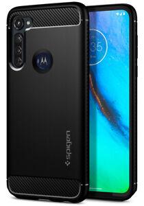 Motorola Moto G Power(2021) G8 Plus G Stylus | Spigen®[Rugged Armor] Black Case