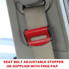 RED BMW SEAT ADJUSTABLE SAFETY BELT STOPPER CLIP CAR TRAVEL 2PCS