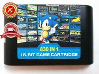 Game Cartridge For Sega Genesis Mega Drive 830 in 1 EDMD Region Free Console