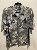 Vintage Tommy Bahama Mens XL Rayon Short Sleeve Floral Hawaiian Camp Shirt VTG