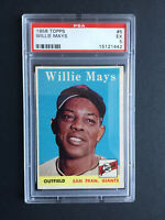 1958 Topps Willie Mays San Francisco Giants #5 Baseball Card PSA 5
