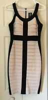 Women's Jax Tan Black Colorblock Bodycon Bandage Dress Size 8