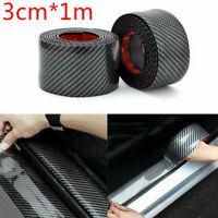Car Accessories Carbon Fiber Auto Door Plate Cover Anti Scratch Sticker 3CMx1m