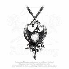 Alchemy Gothic Halskette Diamond Heart Gothic Schmuck