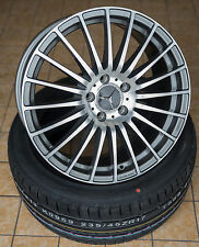 18 Zoll AX5 Alu Felgen für Mercedes A C Klasse W204 W176 CLA AMG A45 Grau GTI RS