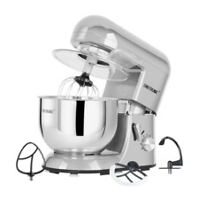 CHEFTRONIC Tilt-Head Electric Multi-functional Kitchen Stand Mixer 5.5qt Silver