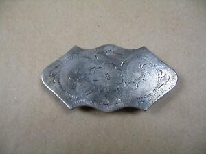 Silberbeschläge für Lederwaren Restposten Gürtelschnalle No. 823