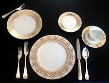 Exquisite ROYAL LIMOGES 5-piece setting OASIS WHITE - retail $425 - NEW