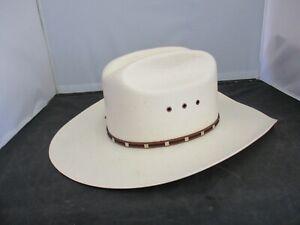 Resistol George Strait Self Conforming 8X Panama Straw Cowboy Hat Size 7 1/4